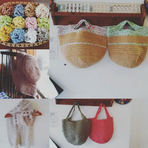 カギ編み作品入荷しました